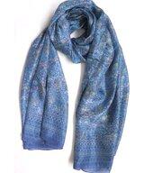 Scarf Silk Double Klein Light Blue