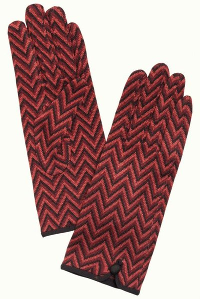 Gloves indra beet red