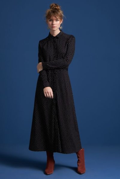 Olive Midi Dress Little dotts