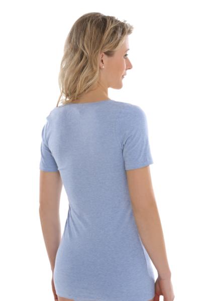Fair Trade t-shirt Blue-Melange