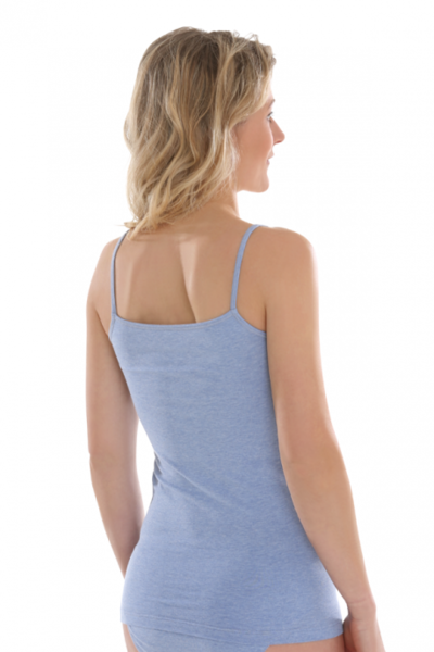 Fair Trade top Blue-Melange