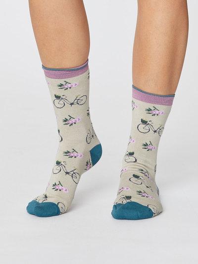 Women's Bamboo Bicycle Socks Cream