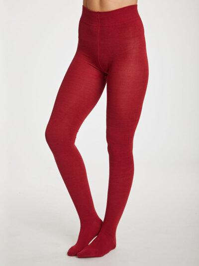 Elgin Bambu Strumpbyxor Redcurrant Red