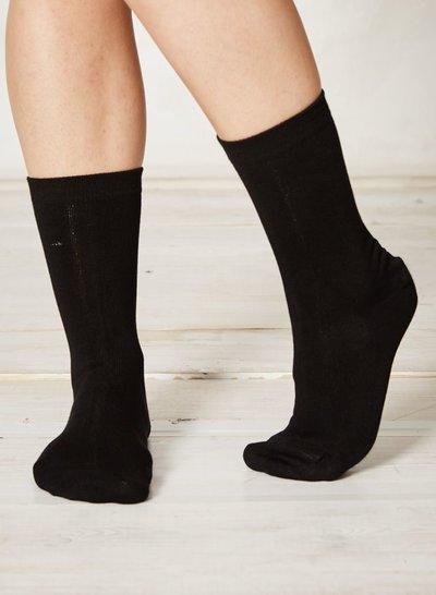 Solid Jackie Plain Bamboo Socks Black