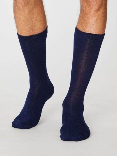 Bambu Socks Jimmy Plain Navy