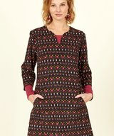 Cotton Cord Tunic Dress Chocolate