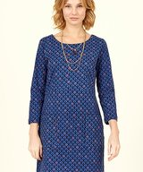 Cotton Stretch Tunic Dress Sapphire