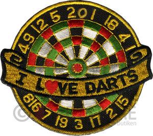 I Love Darts - Sew on Patch