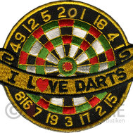 I Love Darts - Tygmärke