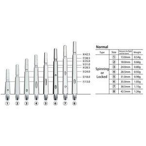 Cosmo Fit Shafts Gear Normal Spinning Svart Storlek  4 -28,5mm