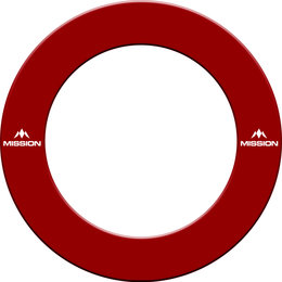 Mission Dartboard Surround  with Logo  Red