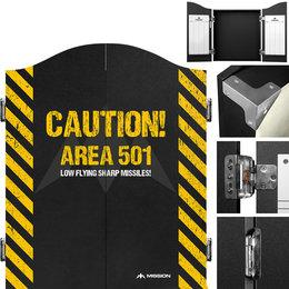 Mission Dartboard Cabinet Area 501 - Caution