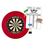 Bulls Surround Dartboard Pro Set Red