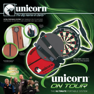 Unicorn On Tour Travelset with 1 Eclipse dartboard