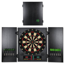 XQMax Michael van Gerwen Electronic Dartboard and Cabinet Set CBX-180 Pro Version Softtip