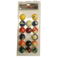 "POWERGLIDE 1"" 7/8' (47,5MM) POOL BALLS - SPOTS & STRIPES"