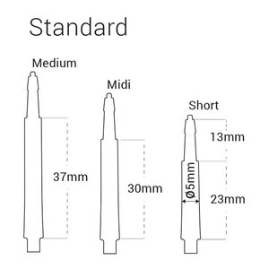 Harrows Clic Normal Svarta 30mm
