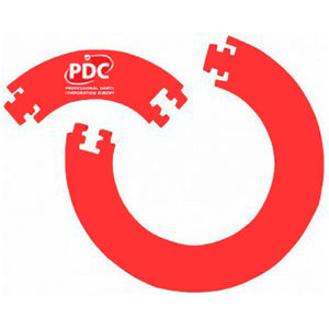 PDC Europe Jigsaw Väggskydd Rött