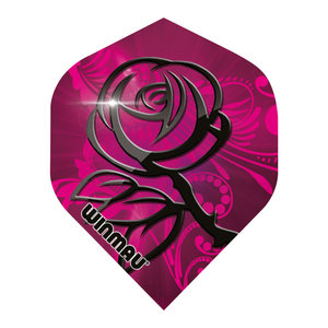 Winmau Mega Standard Pink & Black Rose