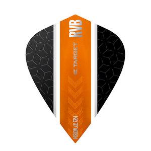 Target RVB Vision Ultra Black/Orange Stripe Kite