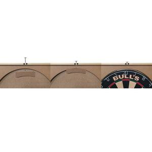 Bulls Deluxe Dartskåp Svart