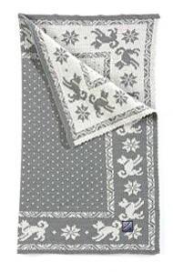 Dog's Blanket - Grey & White