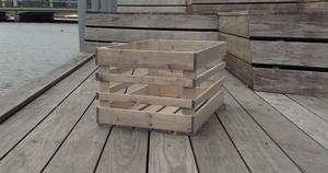 Hel pall 36st  vintage betsade äppellådor 60x40cm