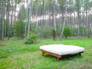 Polonia naturlig tjockare dubbel latex futonmadrass