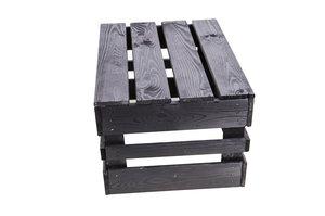 Äppellåda  svart lackbetsad 30x40,5cm