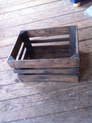 Äppellåda vintage vaxad 40,5 cm x 30,5 cm