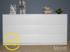 Monti liggande sängskåp helt i vitt