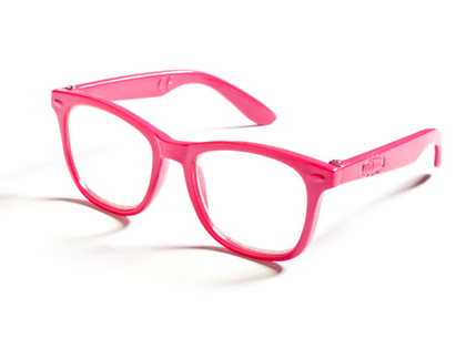 Glasses for dolls (pink & black)