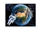 Bild 3D Jorden från Rymden