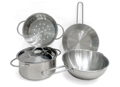 Cookware in metal (5 pcs)