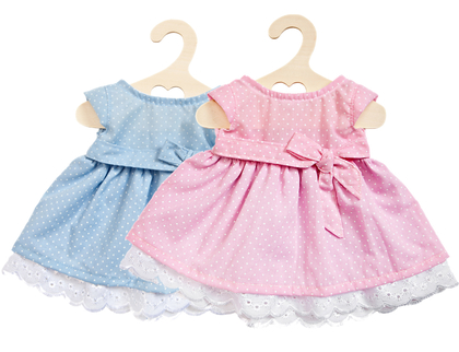 Dress for dolls Dot (30cm) pink/blue