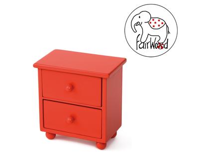 Dockmöbel Byrå Mini (röd)