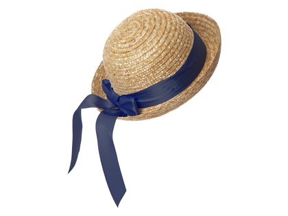 Straw hat round 'Lisabet' marine