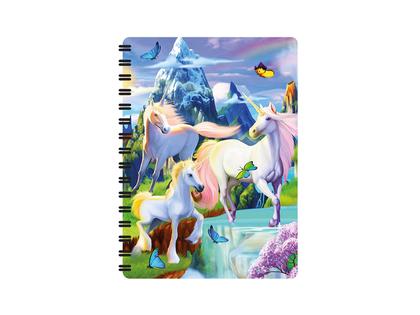 Anteckningsbok 3D Enhörning & Pegasus liten