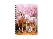 Anteckningsbok 3D Hästar & Körsbärsblomster liten
