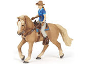 Horse with rider western