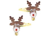 Hair clips 'Rudolph'