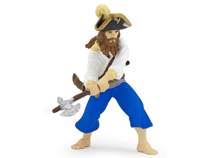 Pirate with Axe (blue)