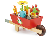 Wheelbarrow with accessories