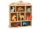 Shelf with woodland animals