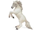 Häst stegrande vit