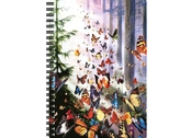 Notebook 3D Butterfly woods large