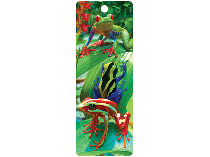 Bookmark 3D Funky frogs