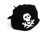 Pirate Klute Skull (black)