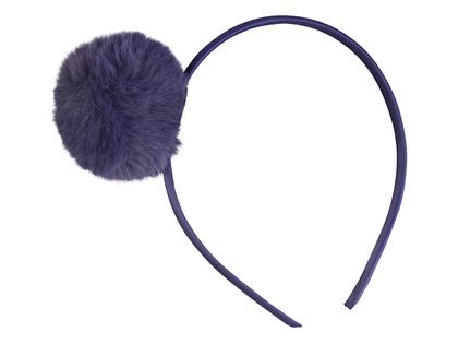 Diadem 'Pompom' dark blue