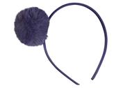 Diadem 'Pompom' mörkblå